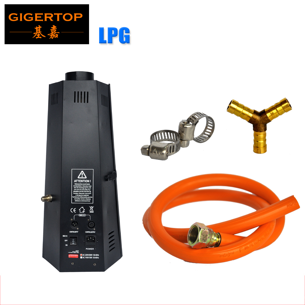 TIPTOP Competitive Price Lighting Stage LPG Fire Machine 200W Flame Projector DMX512 2 Channels Hexagon Flame Machine 90V-240V
