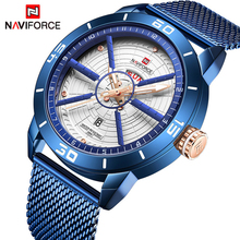 NAVIFORCE для мужчин s часы лучший бренд класса люкс спортивные часы сетки сталь Дата Неделя водостойкие кварцевые часы для мужчин часы Relogio Masculino
