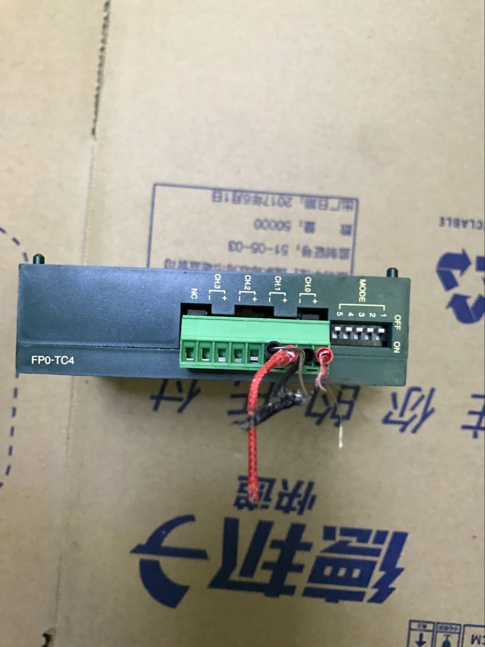 USED expansion temperature module PLC FP0-TC4 intact one year warranty cqm1 tc001 plc module temperature control module original brand new well tested working one year warranty