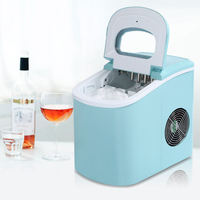Household Small Ice Maker 12KG Commercial Milk Tea Shop Electric Round Ice Making Machine with Manual Water