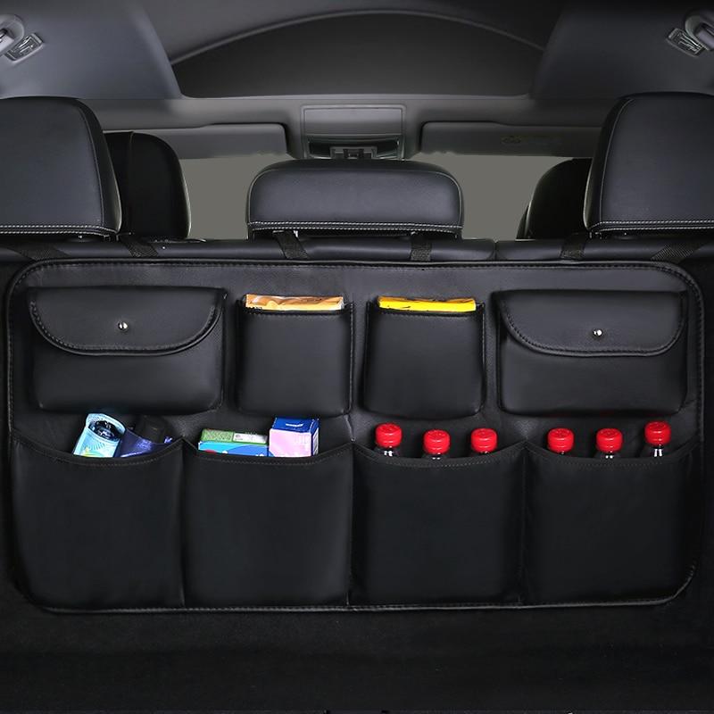 Auto Interior Accessories Pocket Organizer Car Truck Storage Pouch Holder with Multi-Pocket Net Zipper(Gray) Da by Leather Car Sun Visor Organizer