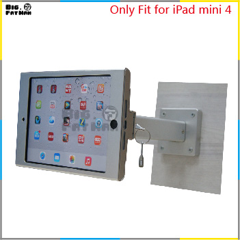 fit for ipad mini 4 wall mount aluminum metal case bracket security desktop support for ipad