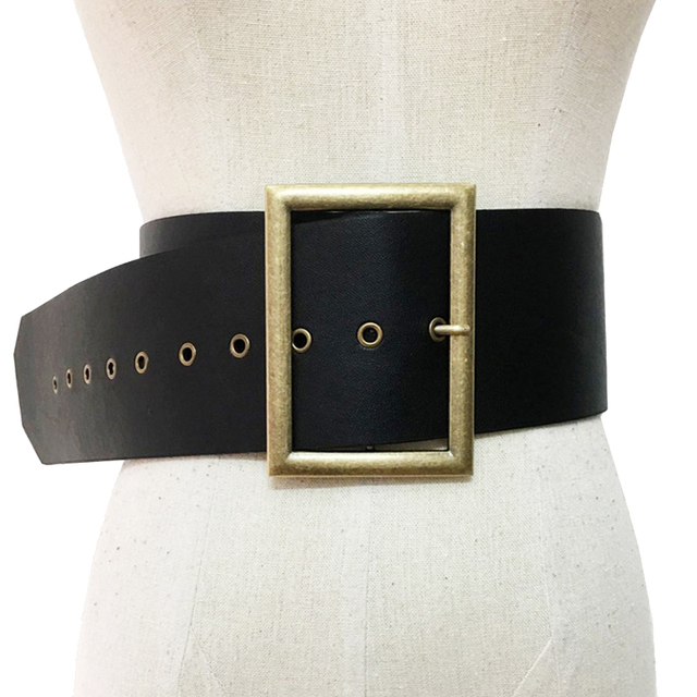 2f64ff9bb Extra Wide Belts For Women Pin Buckle Punk Cool Retro Ladies Heavy Metal  Girls Hip Hop PU Female Fasion Wide Leather Belt 464