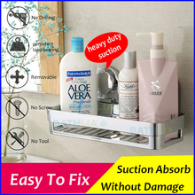 Bathroom Accessories Corner Rack Shower Caddy Shelf  Bathroom Shampoo Holder With Suction Cup Super-big Size Easy to Fix