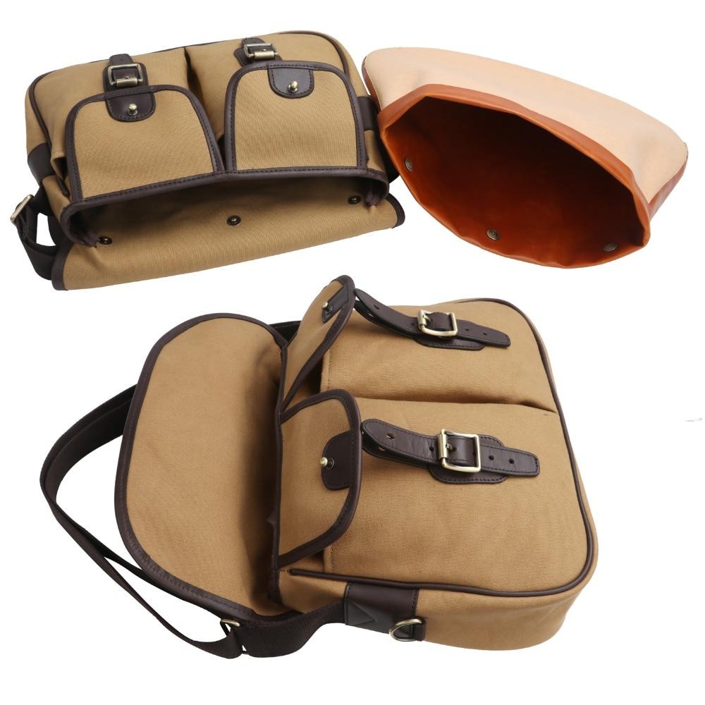 Tourbon винтажная холщовая кожаная сумка для хранения рыболовных