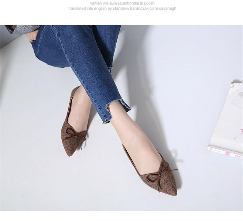 Women Ballerinas Flats Fashion Bowtie Shallow Mouth Slip-on Women Flats Concise Ladies Casual Flat Shoes Ballet Flats For Women (7)