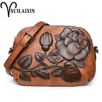 new arrival designer women shoulder Bags small embroidery embossing printing retro floral crossbody bag High quality