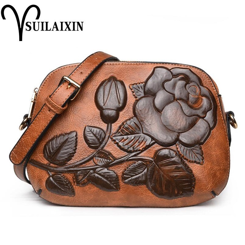 new arrival designer women shoulder Bags small embroidery embossing printing retro floral crossbody bag High quality new national embroidery bags high quality women fashion shoulder