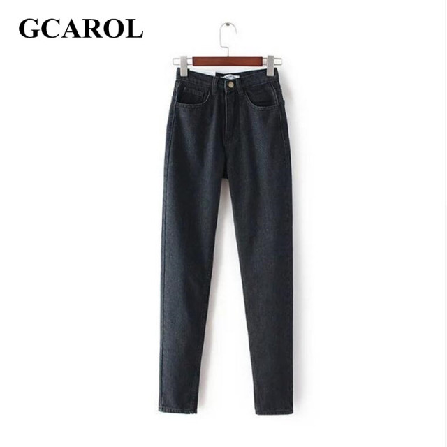 GCAROL 2017 Women High Waist Denim Jeans Vintage Slim Mom Style Pencil Jeans High Quality Denim Pants For 4 Season