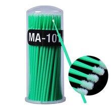 100pcs Micro Applicator Brushes Disposable Micro Brushes Swab Applicators for Makeup ( green )