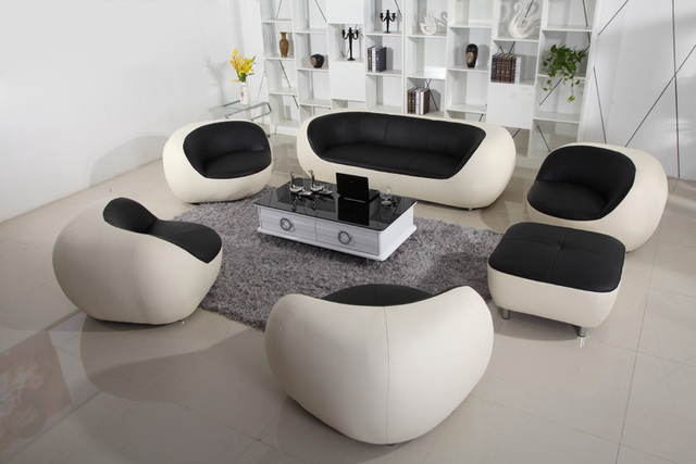 HOT SALE Cheap Modern Leather Sofa Set Designsin Living Room - Where to buy cheap sofas