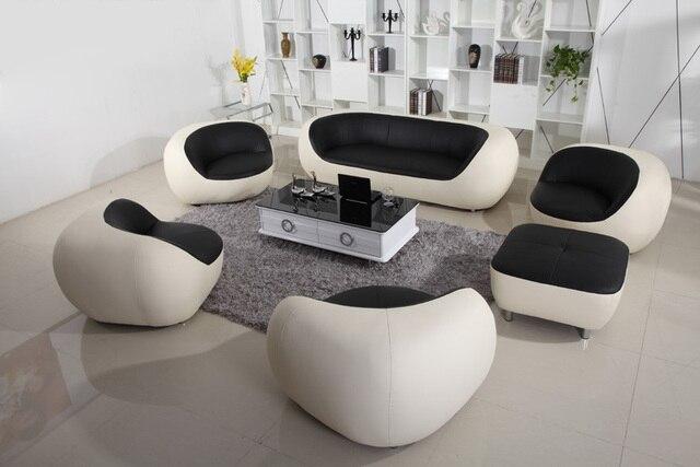 Vendita calda a buon mercato divano in pelle moderno set