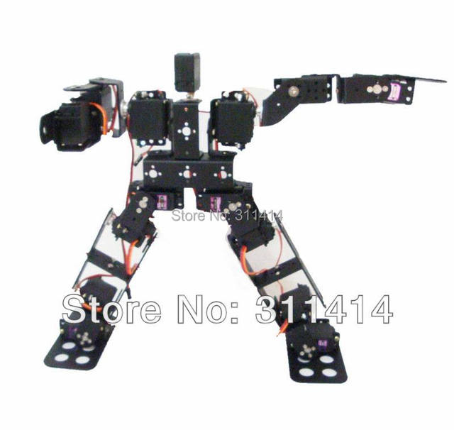 Aliexpress com : Buy 1set New 15DOF Biped Robotic Educational Robot Kit  Servo Bracket Black Include Servo Horns For Hobbyists,Robot Competition  from