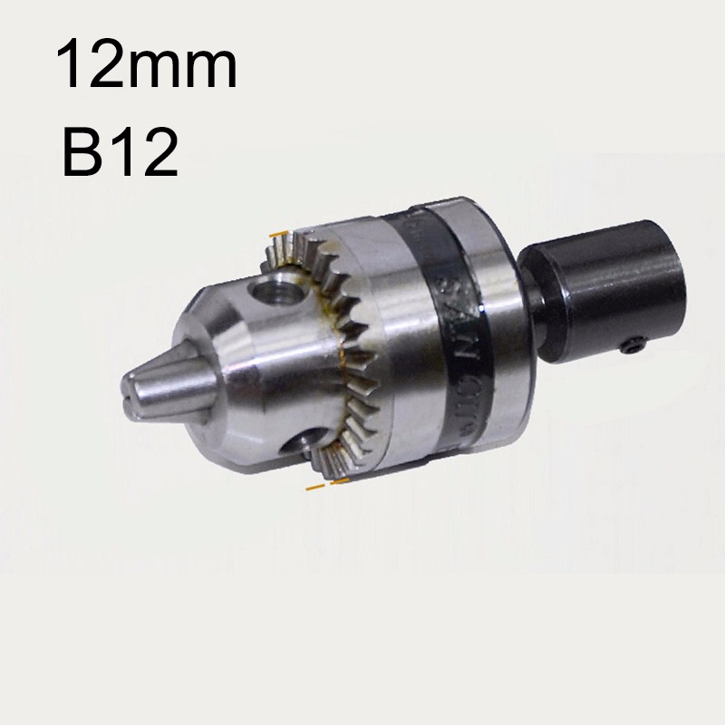 US $2 72 |Mini Electric Drill Chuck 1 5 10mm B12 Taper Mounted Lathe Chuck  PCB Mini Drill Press For Motor Shaft Connecting Rod 12mm-in Power Tool