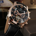 Tourbillon Wrap Mens Watches Automatic Watches man luxury brand Golden Case Male Clock Black Mechanical Watch Relogio Masculino
