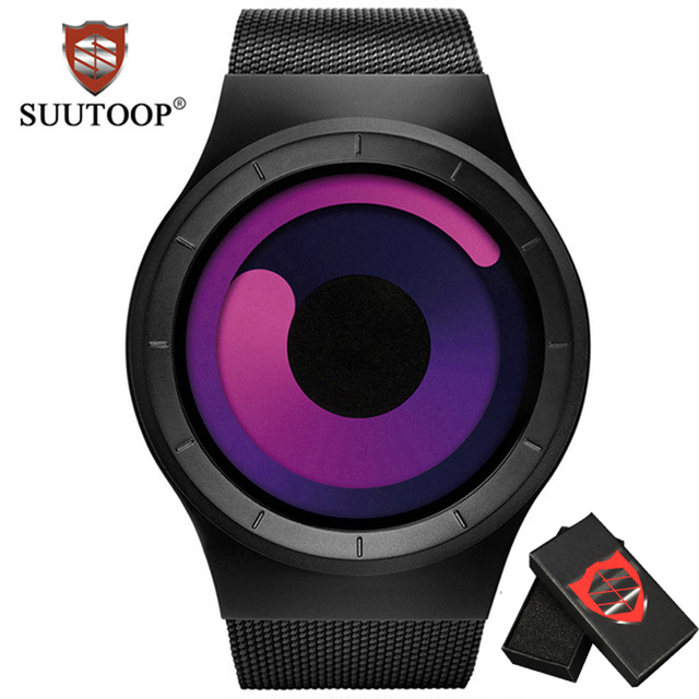 SUUTOOP Women's fashion Creative Watches Ladies Luxury Casual Men Quartz Watch F