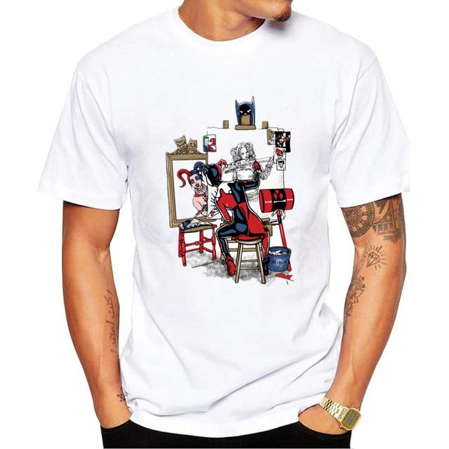 a483924b34b08 Autorretrato de payaso Divertido Camisetas Estampadas para hombres hombres  de Diseño de Moda Fresco de la