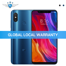 Küresel Sürüm Xiao mi mi 8 6 GB 128 GB cep TELEFONU 6.21 ''AMOLED ekran Snapdragon 845 Octa çekirdek çift Bant GPS Çift Kamera N...