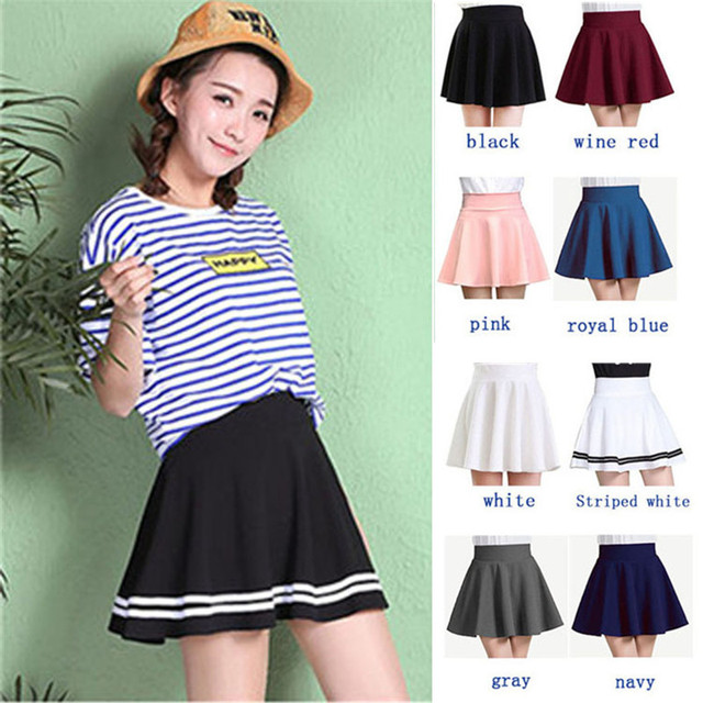 Winter and Summer style Brand elastic ladies midi short skirts 2