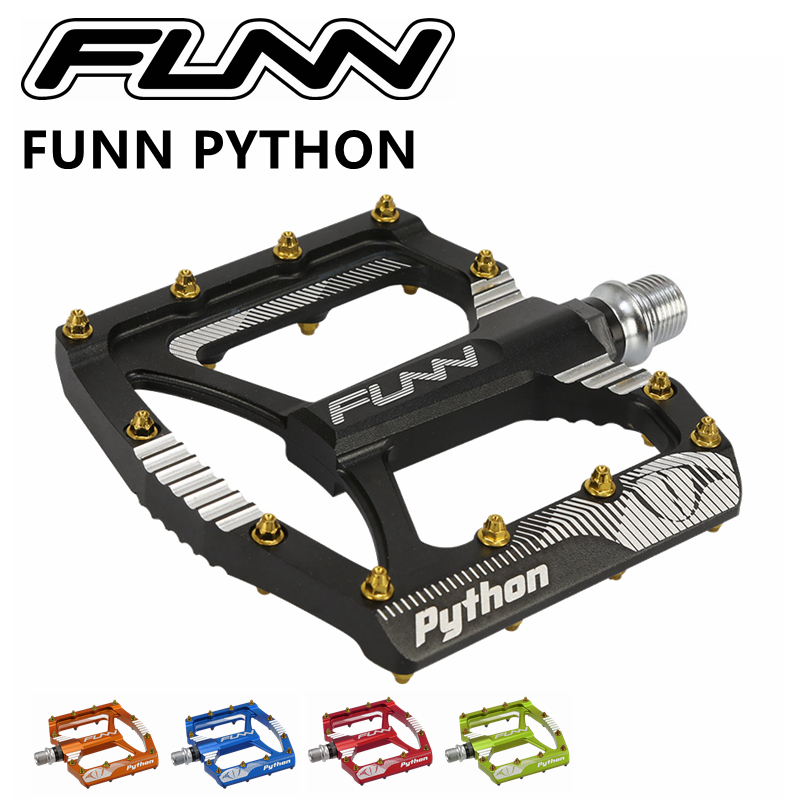 PYTHON Pedal Aluminium alloy CNC MTB Pedals for Enduro All Mountain AM FR DH шестеренка mtb fsa dh black alloy cnc 110x44t