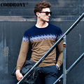 Free Shipping Christmas Merino Wool Sweater Men Brand Clothing Knitted Lamb Cashmere Sweaters Hit Color O-Neck Pullover Men 6322