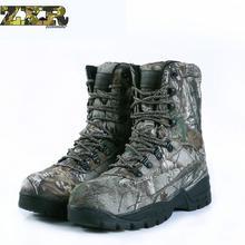 Зимние тактические мужские ботинки камуфляжная теплая хлопковая Армейская Обувь для тренировок мужские армейские ботинки мужская походная обувь