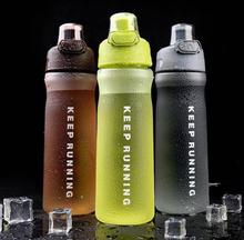 500ml/600ml High Quality Sports Water Bottle Bouncing Cover Portable Scrub Outdoor Plastic Drinkware My Water Bottle BPA Free