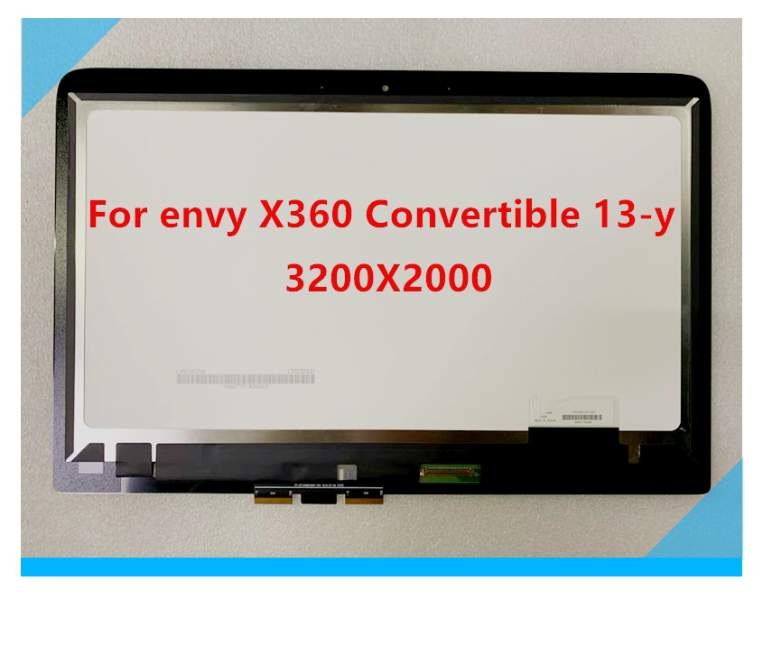 13.3 for For HP envy X360 Convertible 13 y0xx 13 y Touch Screen LCD Display Assembly Digitizer Panel 3200x1800 LTN133YL06 H01