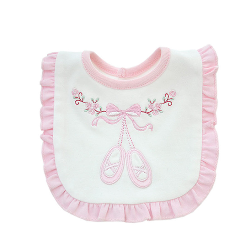 Boys' Baby Clothing Xcqgh Baby Bibs Bandana Burp Cotton Lace Pink And White Baby Girl Bibs Lovely Cute Embroidery Bib Infant Babador Saliva Towels Mother & Kids