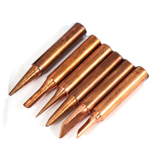 Бесплатная доставка 6 шт./лот красная медь Pure cupper припой Совет бессвинцовый припой Совет Tool kit диамагнетики Сделай Сам 900M-T для 936
