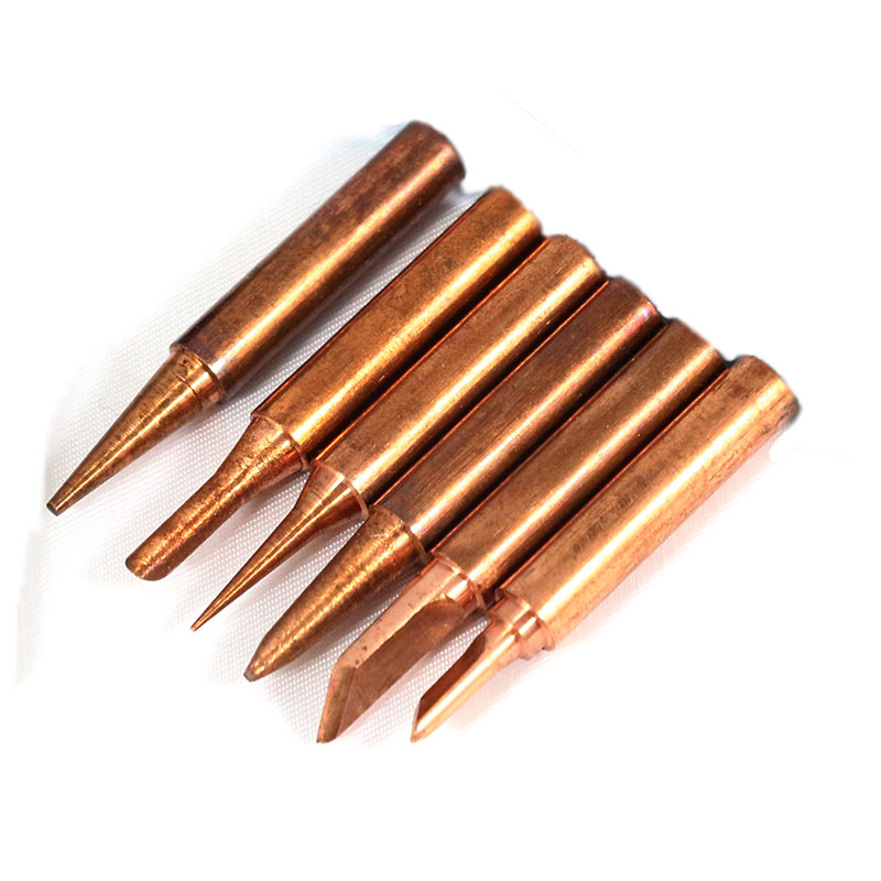 Free shipping 6pcs/lots Red copper Pure cupper Solder tip tip Lead-free Solder tip Tool kit Diamagnetic DIY 900M-T FOR 936