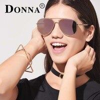 Donna Aviator Sunglasses Women Vintage Rose Gold Mirror Sunglasses Brand Design Polarized Glasses Men Pilot UV400