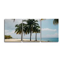 Laeacco 3 Panel Tropical Palm Tree Posters and Prints Wall Artwork Home Living Room Decor Canvas Paintings Calligraphy
