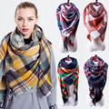 Za Plaid Winter Warm Scarf For Women Blanket Scarf Women Shawls And Scarves Pashmina Luxury Brand Large echarpe Drop Shipping