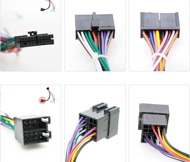 universal iso wire harness female adapter connector cable radio rh aliexpress com car stereo wiring connector 05 grandprix car speaker terminal connectors