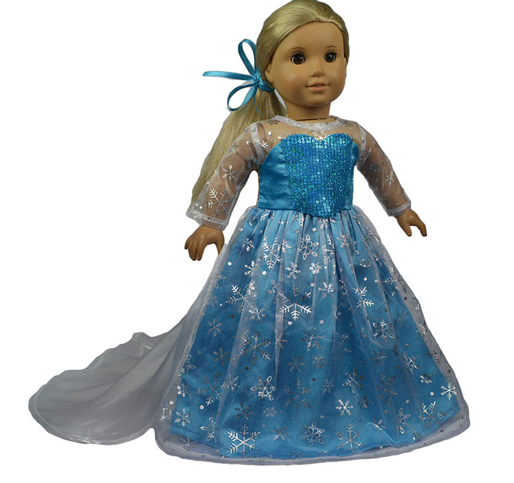 """Maxi Floral Dress Fits 18/"""" Doll CLothes American Girl Our Generation Doll"""