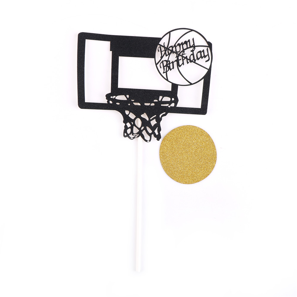 Wedding & Anniversary Bands Dependable New Happy Birthday Basketball Cupcake Cake Toppers Art Door Cake Flags Kids Birthday Party Baby Shower Wedding Baking Decor Sturdy Construction