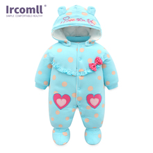High Quality Baby Rompers Winter babys Boys Outerwear Girls Warm Clothes Cartoon Cotton Kids Jumpsuit Bebe Newborn Clothing kids clothing 2017 winter boys warm clothes child cartoon padded coat trousers suits girl sportswear high quality babys jacket