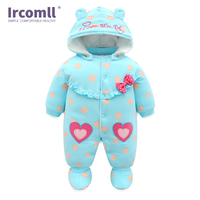 High Quality Baby Rompers Winter babys Boys Outerwear Girls Warm Clothes Cartoon Cotton Kids Jumpsuit Bebe Newborn Clothing