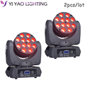 Светодиодный луч 12x12 Вт движущийся головной свет RGBW стирка сценическое освещение 2 шт./лот