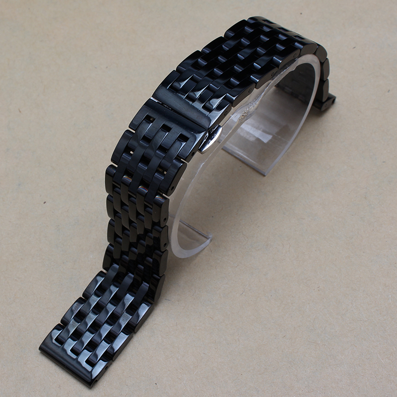 20mm Black Stainless steel watchband Bracelets fit Gear S2 smart-watch accessories replacement promotion men watches band straps
