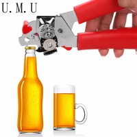 Home Use Strong Stainless Steel Kitchen Restaurant Craft Multifunction Beer Bottle Opener Can Jar Tin Opener