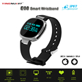 E08 Bluetooth4.0 Smartband Heart Rate Swimming Monitor IP67 Waterproof Fitness Tracker Anti-lost for IOS Android Smart Wristband