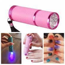 Мини УФ светодиодный светильник лампа Сушилка для ногтей гелевых