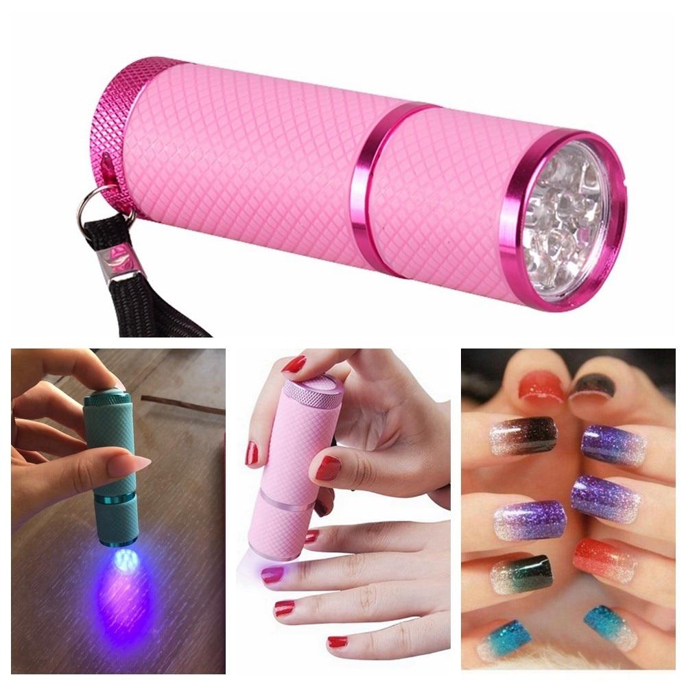 Mini UV Led Light UV LED Lamp Nail Dryer for Gel Nails 9 LED Flashlight Portability Nail Dryer Machine Nail Art Tools UV Light