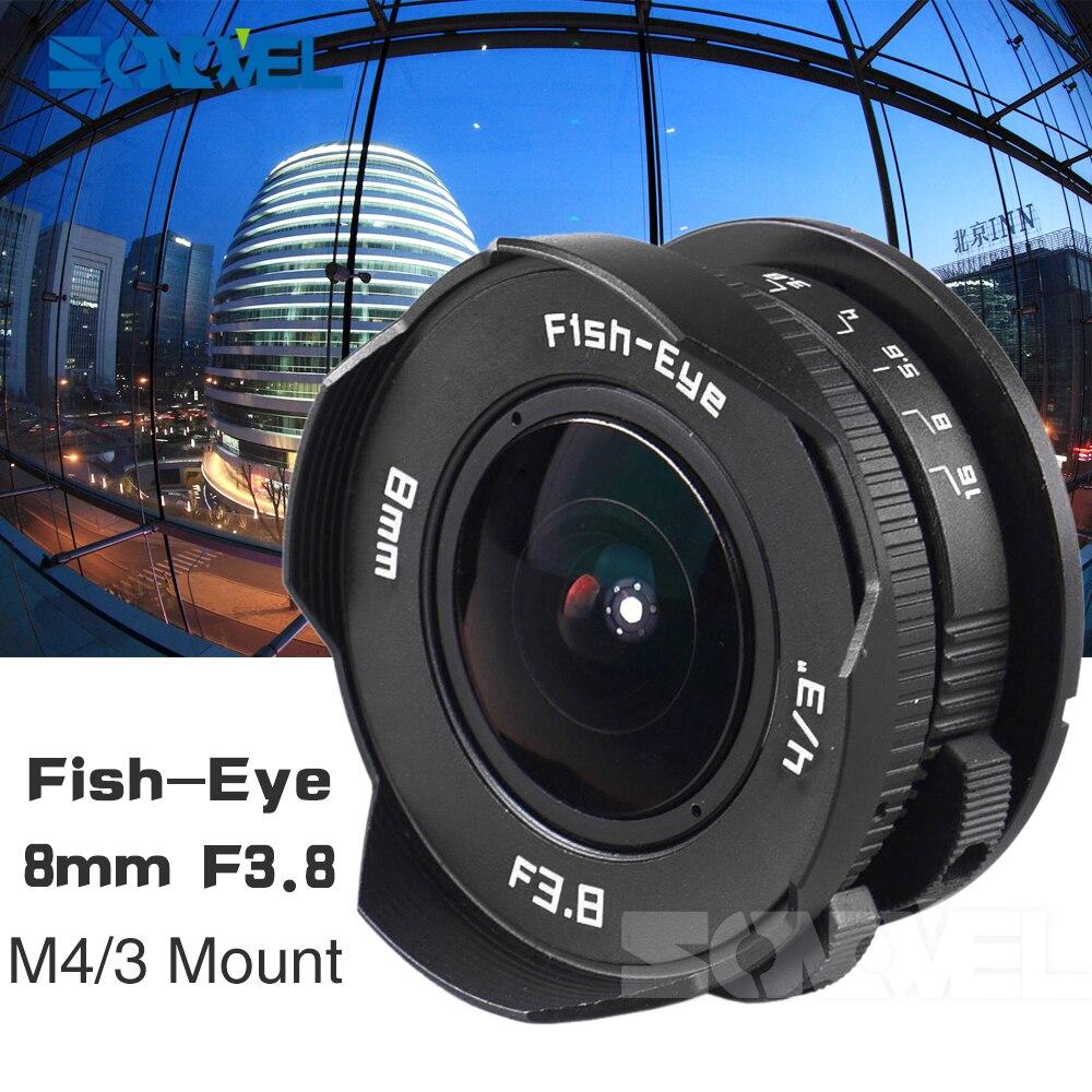 8mm F3.8 Fish-eye C montent Fisheye Grand Angle Lentille focale Lentille oeil de Poisson Costume Pour Panasonic Olympus Micro quatre Tiers M4/3