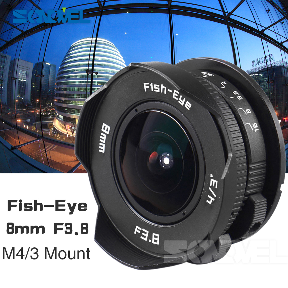 8mm F3.8 Fish-eye C mount Wide Angle Fisheye Lens Focal length Fish eye Lens Suit For Panasonic Olympus Micro Four Thirds M4/3 aps c cl mil7528n 7 5mm f2 8 fish eye wide angle lens suit for fujifilm fx nex micro 4 3 eos m with lens wrist strap