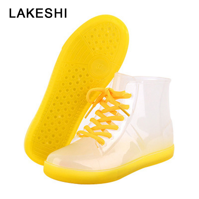 colorful rain boots women snow boots Women Ankle boots slip flat shoes Women Candy Colors Water Shoes Unisex Plus Size белозерская алёна сердце из двух половинок page 4