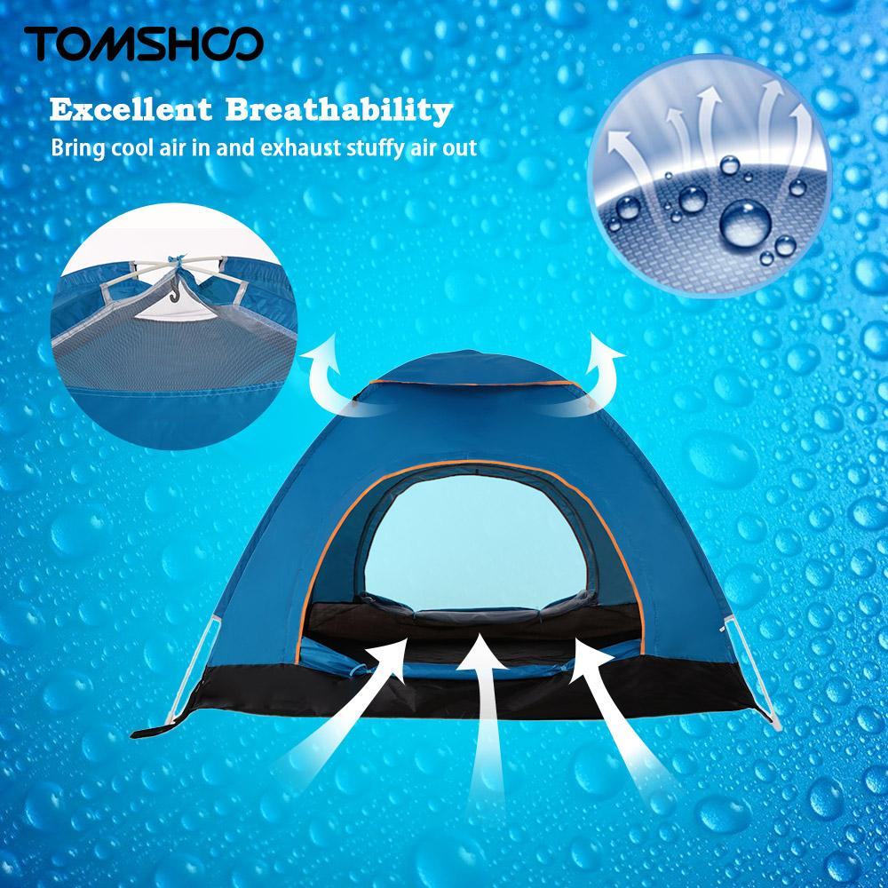 Outdoor Camping Gear 70*210cm Polyester Travel Sleeping Bag+automatic Instant Pop Up Hiking Tent 240 *180*100cm For 3-4 Persons Moderate Price Camp Sleeping Gear Sleeping Bags
