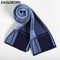 2018 Winter Business Male Female Winter Scarf Scarf Men Wool Plaid Bandana Cashmere Lovers Gift Causal